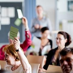 Digital interaktiv mitbestimmen: Das konnten die Mitglieder der GLS Treuhand bei der Mitgliederversammlung 2020, die erstmals digital stattfand.