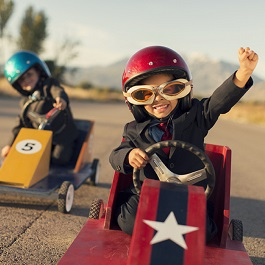 Autorennen Kinder