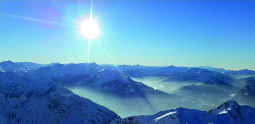 wunderschöner Blick in die Berge von Oberstdorf