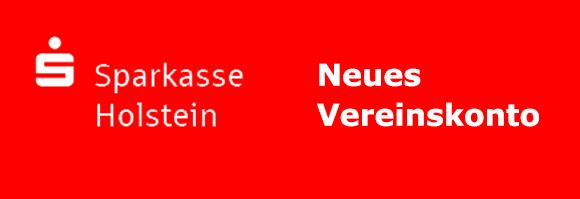 Banner - neues Vereinskonto Sparkasse Holstein