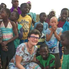 Frau Dr. Teltschik in Uganda