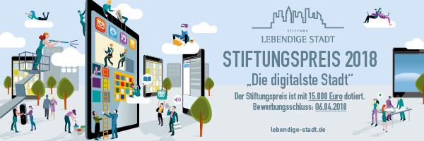 """Stiftungspreis """"Die digitalste Stadt"""""""