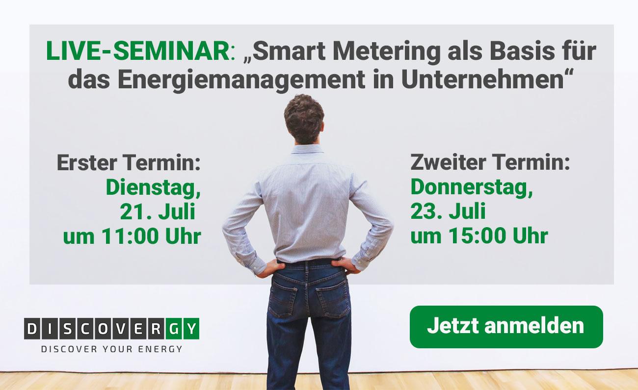 Live Seminar Smart Metering für Unternehmen