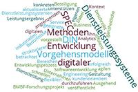 Entwicklung digitaler Dienstleistungssysteme Wordcloud