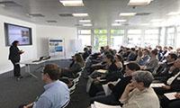 Teilnehmerinnen und Teilnehmer der Tagung am Fraunhofer IAO © David Kremer, Fraunhofer IAO