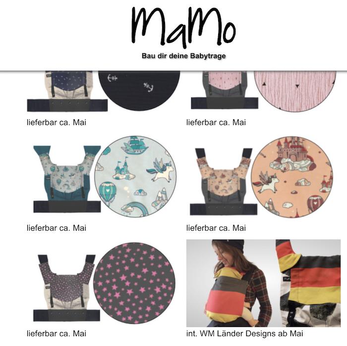 Design Vorschau auf MaMo-Trage.de