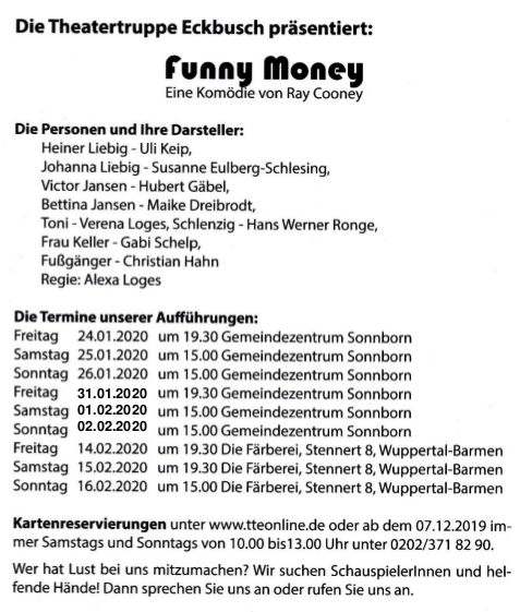 Theater: FunnyMoney