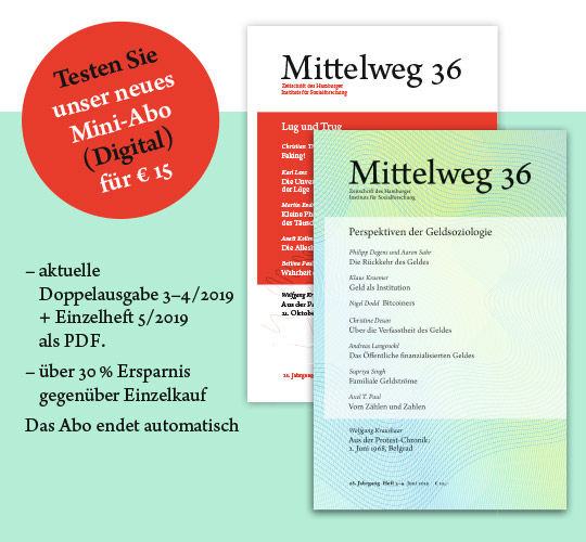 Cover, Neues Heft Mittelweg 36