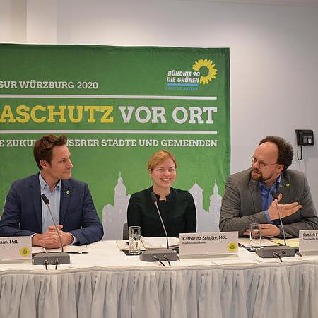 Auftakt-Pressekonferenz zur Winterklausur der Landtagsfraktion in Würzburg mit Katharina Schulze, Ludwig Hartmann und Patrick Friedl
