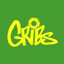 Das GRIBS-Logo in gelber Schrift auf grünem Grund