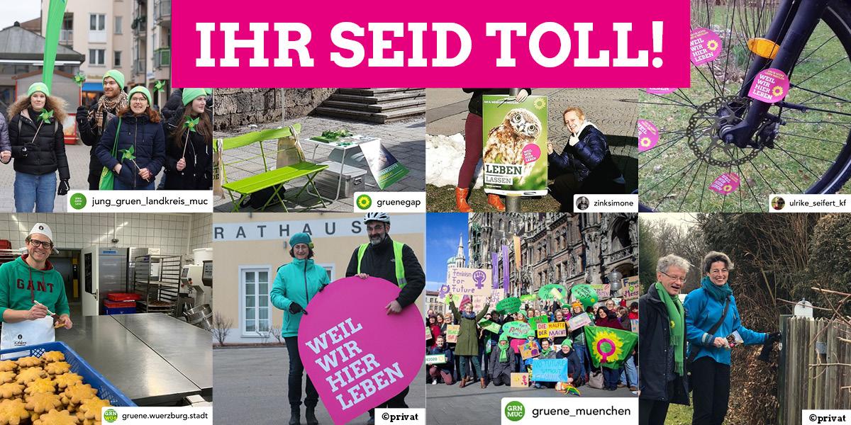 Collage mit Szenen aus dem Kommunalwahlkampf