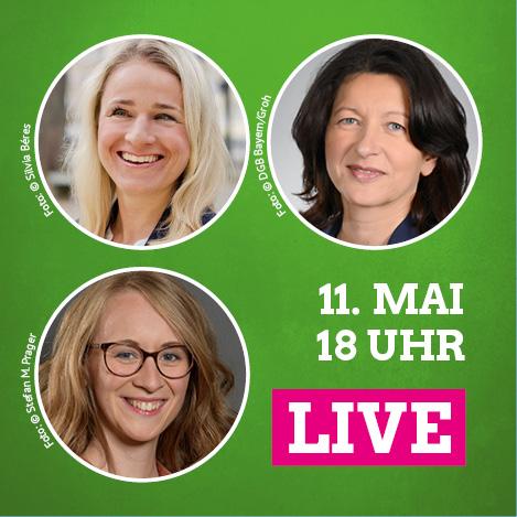 Eva Lettenbauer, Verena Bentele und Dr. Verena Di Pasquale: am 11. Mai ab 18 Uhr im Live Talk