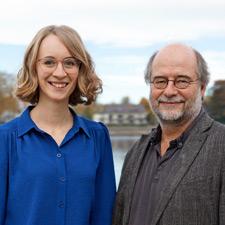 Porträt der grünen Landesvorsitzenden Eva Lettenbauer und Eike Hallitzky