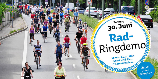Auf geht's zur Radringdemo in München am 30. Juni!