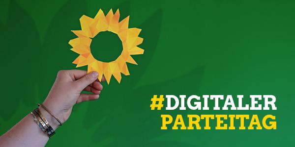 Komm zum digitalen Parteitag! Am Samstag ab 13 Uhr im Livestream auf gruene-bayern.de