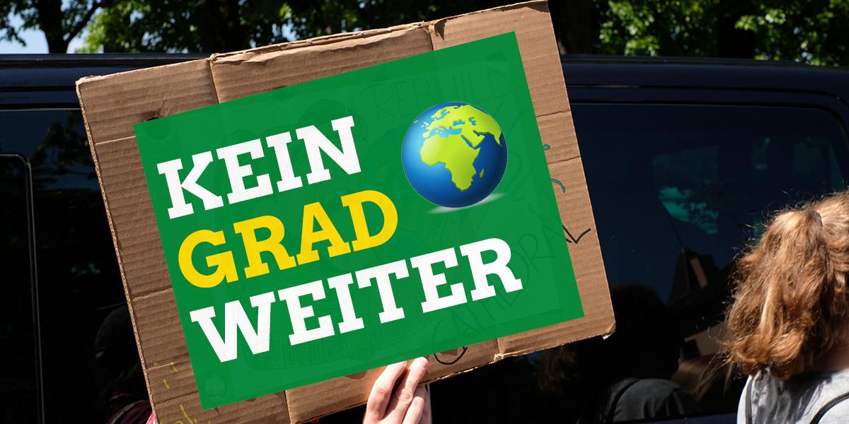 Kein Grad Weiter: Das Motto des weltweiten Klimastreiks am 25. September