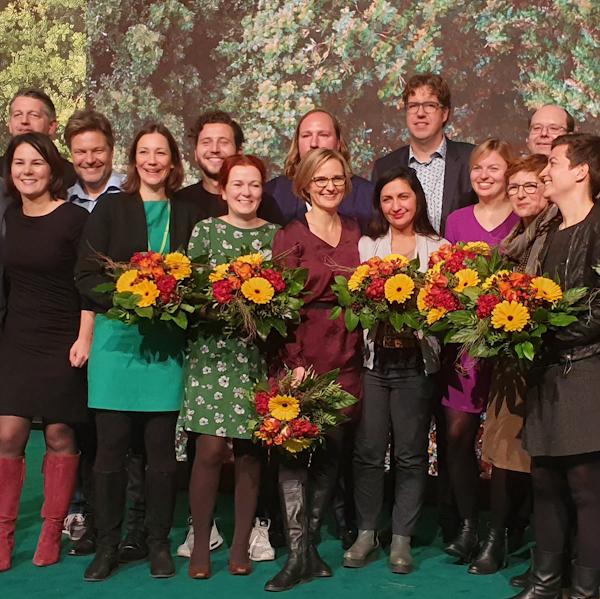 Gruppenbild des neuen Parteirats von BÜNDNIS 90/DIE GRÜNEN