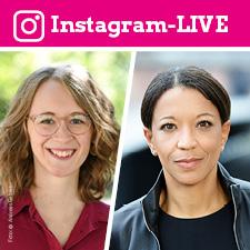 Eva Lettenbauer und Janina Kugel im Instagram-LIVE