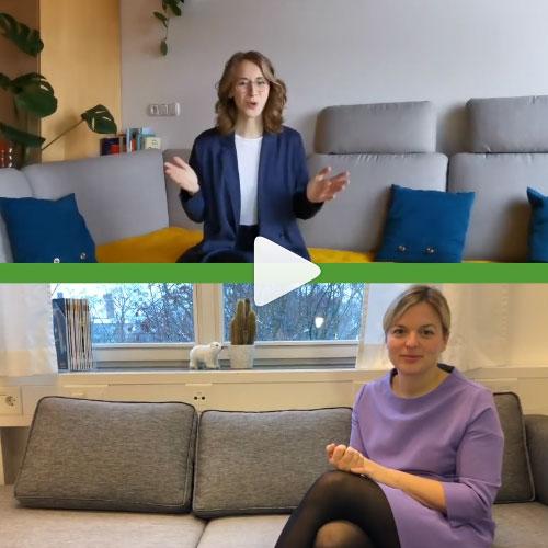 Eva Lettenbauer und Katharina Schulze erklären in einem Homeschooling-Video den Unterschied zwischen Partei und Fraktion