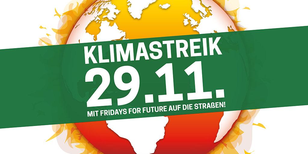 Klimastreik am 29.11.: Mit Fridays for Future auf die Straßen