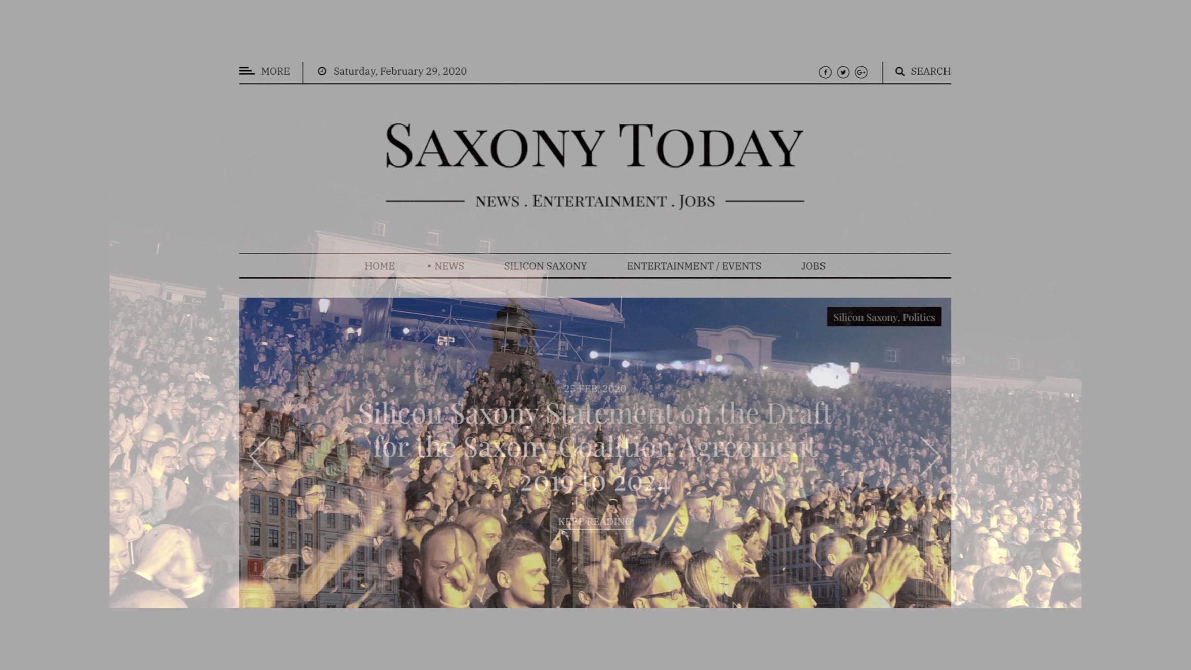 Saxony Today - Sachsens erste englischsprachige Nachrichtenplatform entsteht
