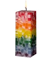 Regenbogen-Kerze