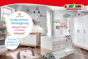 """Versteigerung zugunsten von wellcome auf der """"Babywelt"""" in München"""