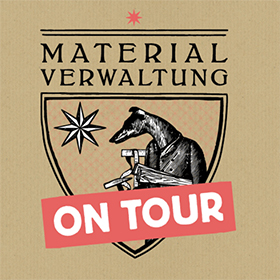 Logo - Materialverwaltung on Tour