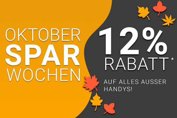 Oktober Sparwochen 12%