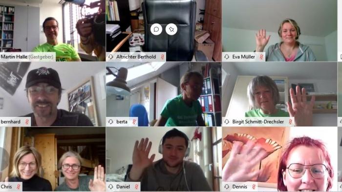 Screenshot von Teilnehmern beim Trainer-Workshop / Foto: BR/Kühn