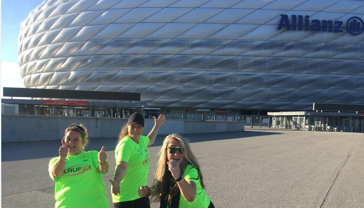 Vorläuferinnen vor der Allianz Arena / Rechte: BR/Tanja Kühn