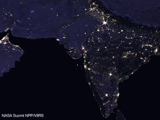 Indien in der Nacht
