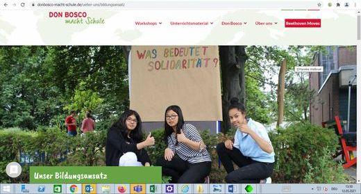 Die neue Website von Don Bosco macht Schule