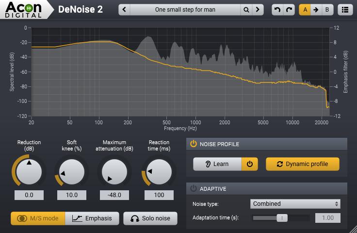 DeNoise 2 from Acon Digital Restoration Suite 2