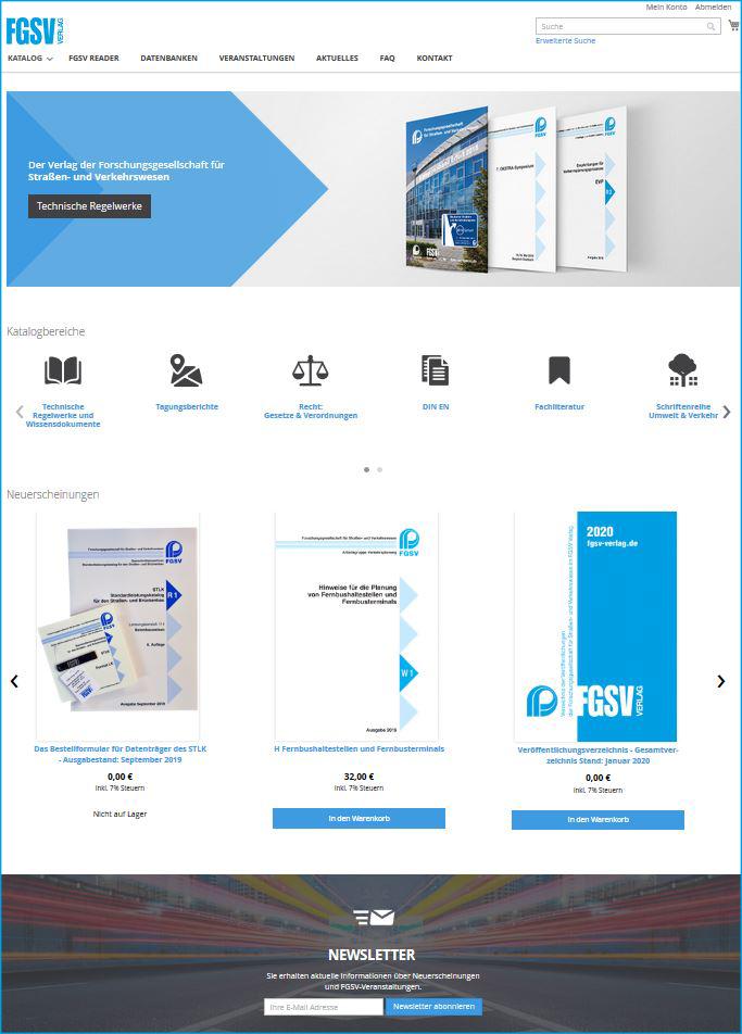 Relaunch der FGSV Verlages Homepage