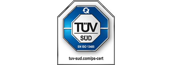 Tüv Süd Logo Zertifizeriung nach EN IS 13485