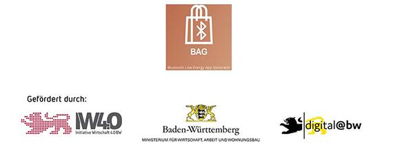 "Logo-Collage APP-Entwicklung ""BAG"""