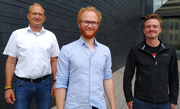 Gründerteam Endress+HauserBioSense mit Dr. Nicholas Krohn, Dr. Stefan Burger und Dr. Martin Schulz (vlnr)