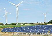 Anlagen zu Energiegewinnung aus Sonne und Wind