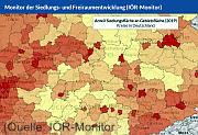 screenshot vom Kartenviewer (Quelle: IÖR-Monitor)