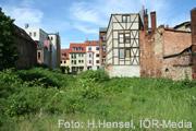 Häuser mit Grünfläche davor