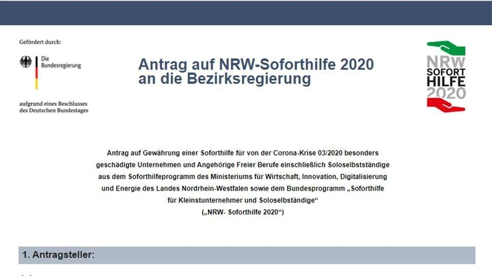 NRW-Soforthilfe: Gefälschte Internetseiten und Antragsformulare werden gezielt per Werbeanzeigen in Suchmaschinen platziert