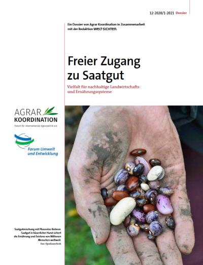 """Dossier """"Freier Zugang zu Saatgut"""" Cover"""