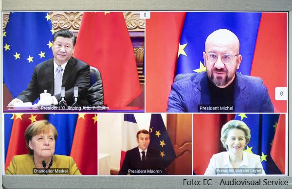 Videokonferenz EU-China // Foto: EC - Audiovisual Service