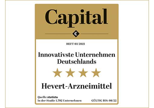 Innovativste Unternehmen Deutschlands 2021 – Auszeichnung für Hevert