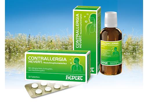 Contrallergia Hevert Heuschnupfentropfen und -tabletten