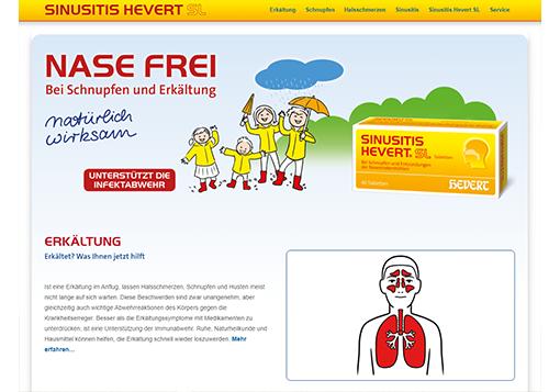 Sämtliche Infos rund um Erkältung und Sinusitis auf einer Website