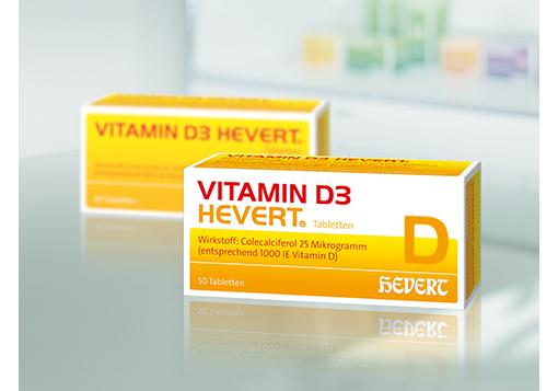 Hevert-Vitamine in neuem Packungsdesign