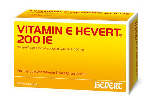 Aus Antioxidans E Hevert wird Vitamin E Hevert 200 IE