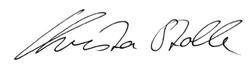 Unterschrift Christa Stolle